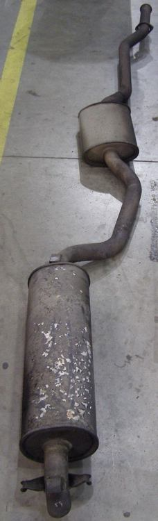 Straight pipe exhaust